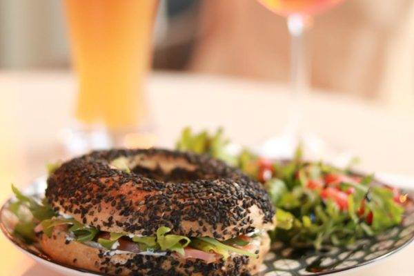 Smoked Salmon, Cream Cheese & Rocket