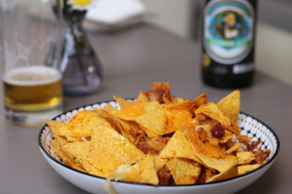 Nachos with Chili & Cheese